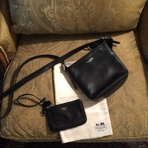 Handbags - Coach small leather purse and wristlet
